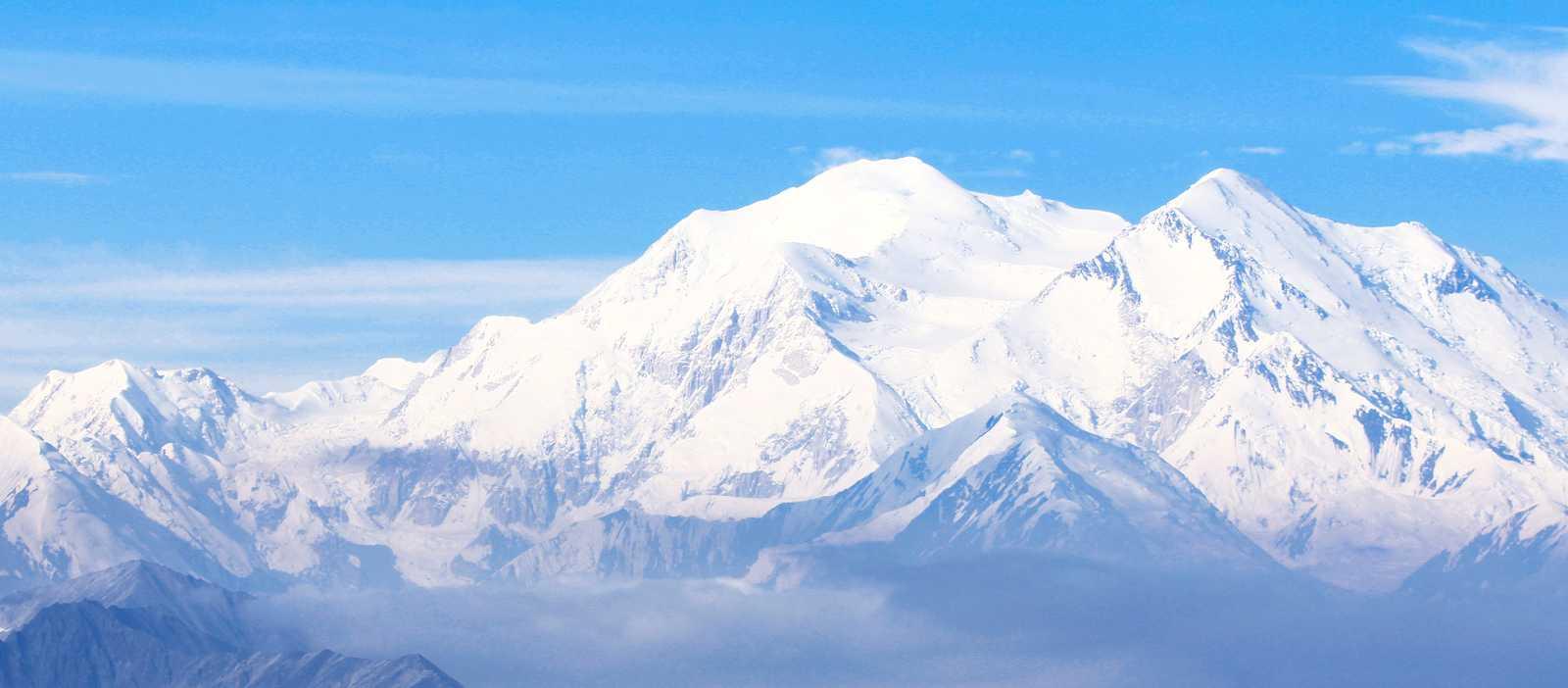 Blick auf den Berg Denali
