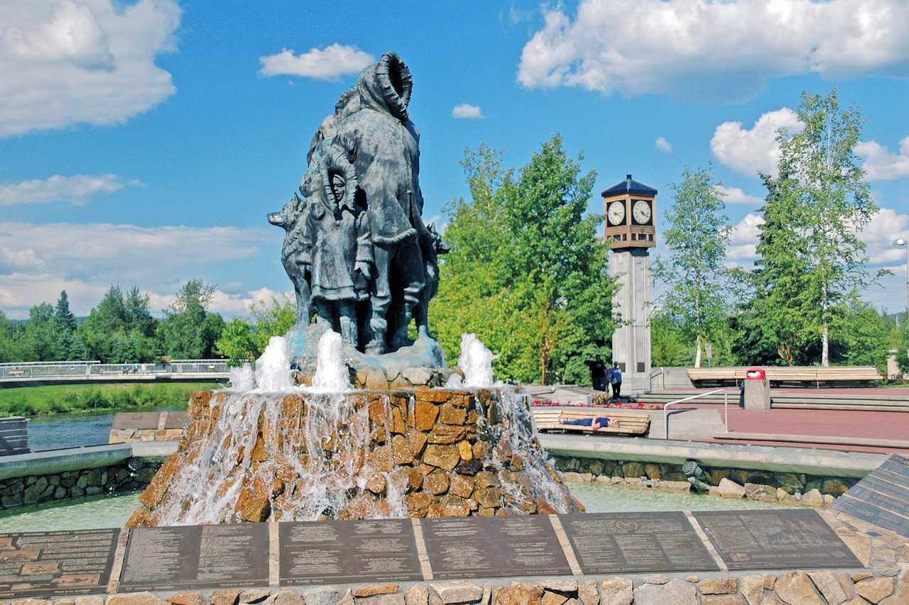 Golden Heart Plaza, Fairbanks