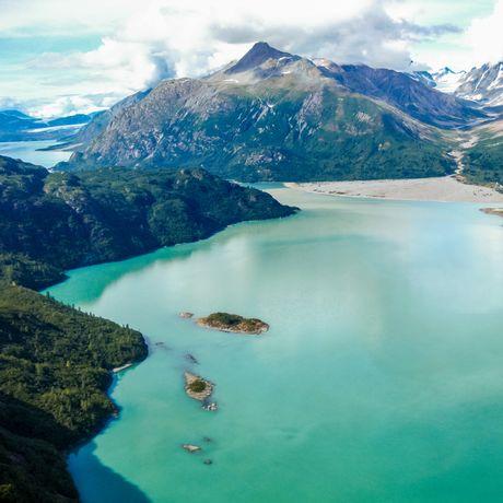 Luftaufnahme des Glacier Bay National Parks, Alaska