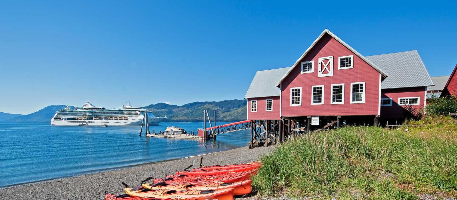 Cannery building in Hoonah am Icy Strait Point