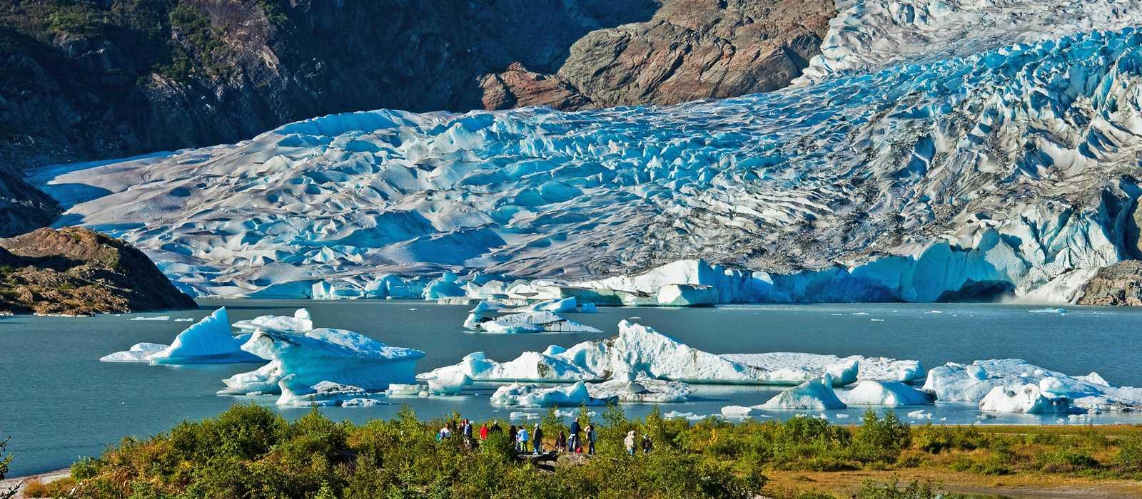 Blick auf den Mendenhall-Gletscher
