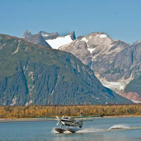 Juneau, Taku Glacier Lodge, Waterplane
