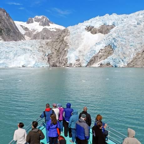 Mit Kenai Fjords Tours am Aialik Glacier