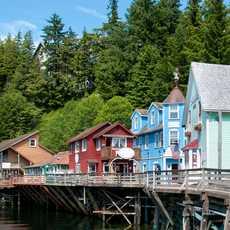 Läden an der Creek Street in Ketchikan, Alaska