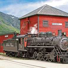 Dampflok der White Pass and Yukon Railroad