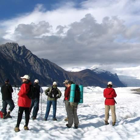 Wanderung auf dem Root Glacier