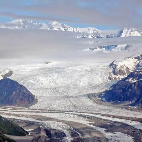 Blick auf den Kennicott-Gletscher