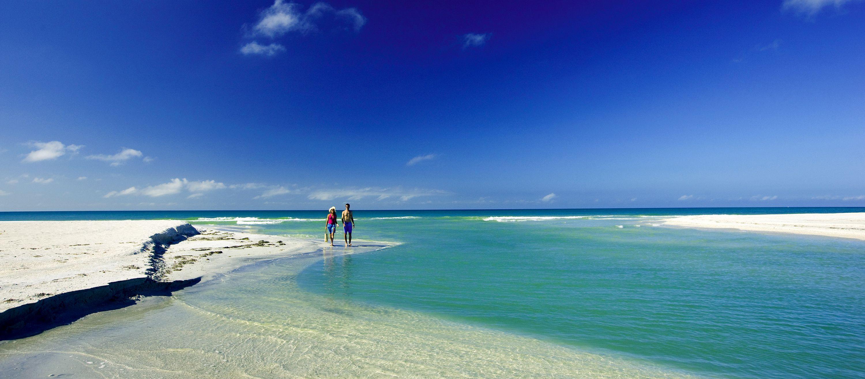 Ein Strandabschnitt von For Myers Beach in Florida