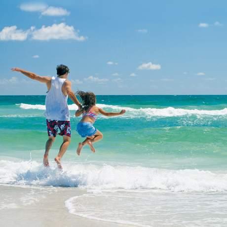 Strand Spaß mit der Familie
