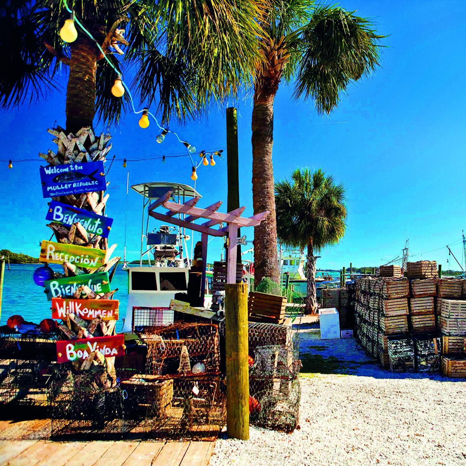 Fischerdorf Cortez auf Anna Maria Island, Florida