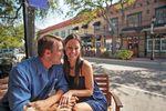Paar im Café in Brendenton Florida
