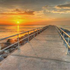 Ein Steg am Daytona Beach in Florida