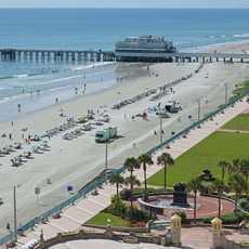 Blick auf den Daytona Beach, Florida