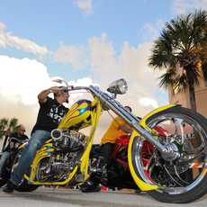 Motorcycle Rallies am Daytona Beach in Florida