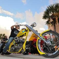 Motorcycle Rallies am Daytona Beach in Florida