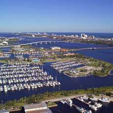 Blick auf den Halifax River in Florida