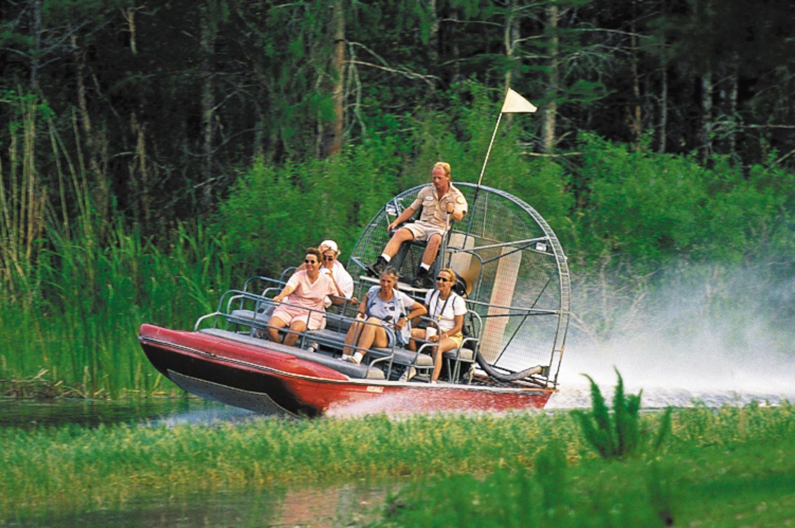 Airboat-Fahrt in den Everglades bei Fort Lauderdale, Florida
