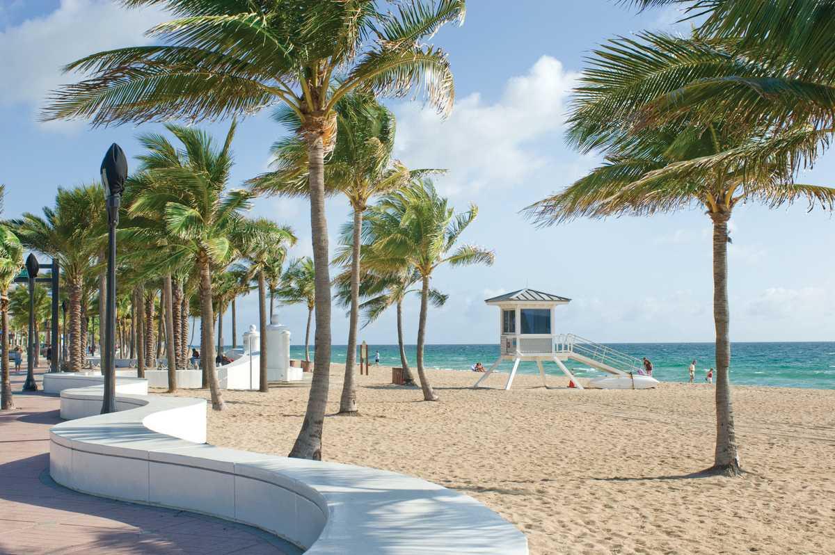 Ein Strandsbschnitt von Fort Lauderdale