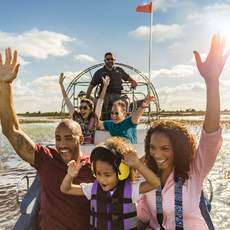 Familienausflug duch die Everglades mit einem Sumpfboot