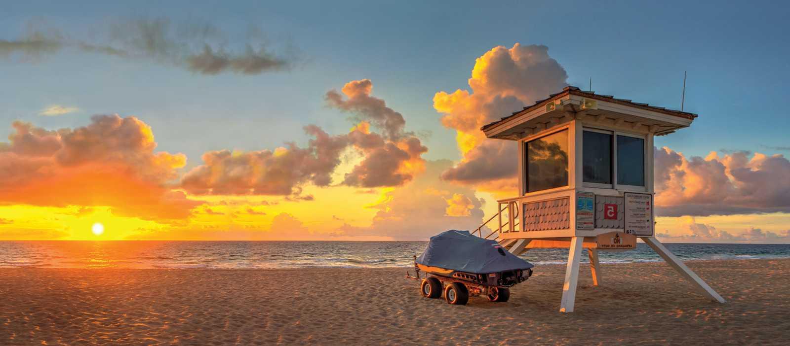 Eine Wasserrettungsstation am Strand von Fort Lauderdale