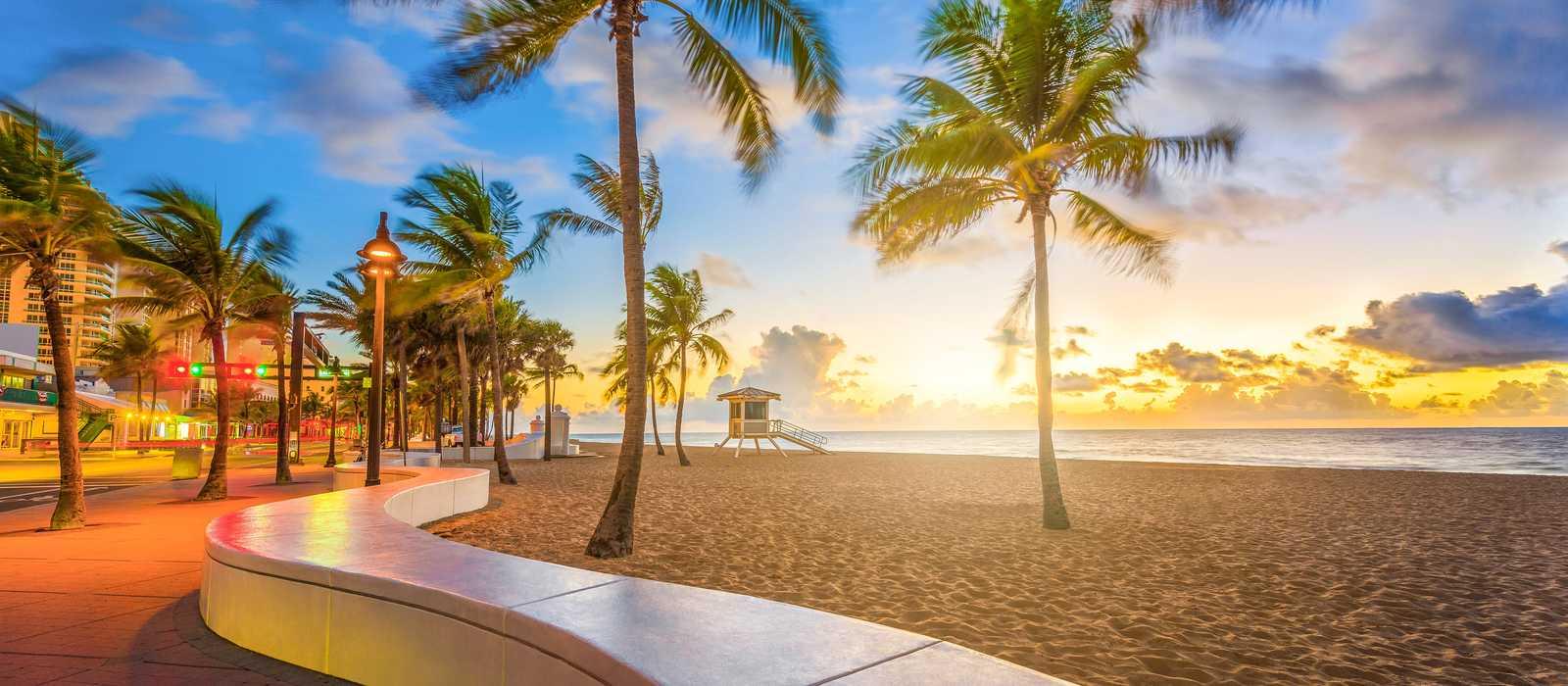 Am Lauderdale Beach in Fort Lauderdale, Florida