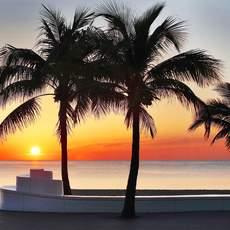 Sonnenuntergang überm Meer in Fort Lauderdale, Florida