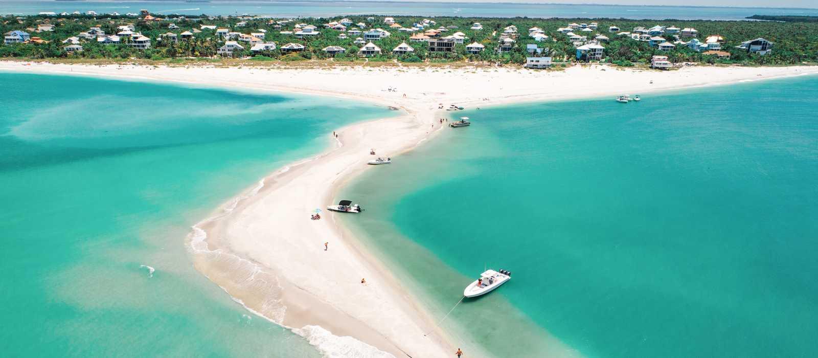 Blick über den Strand von Fort Myers & Sanibel