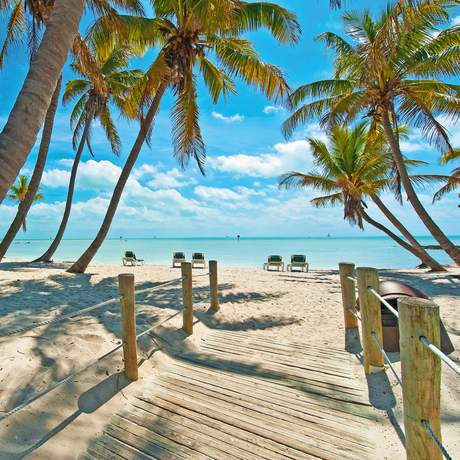 Am Strand von Key West