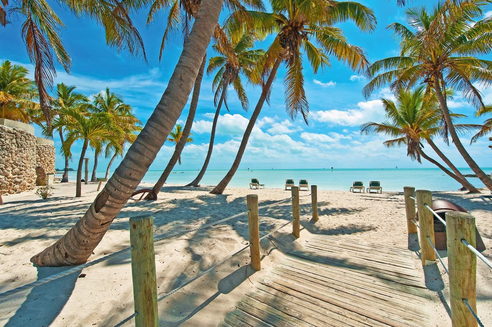 Am Strand von Key West