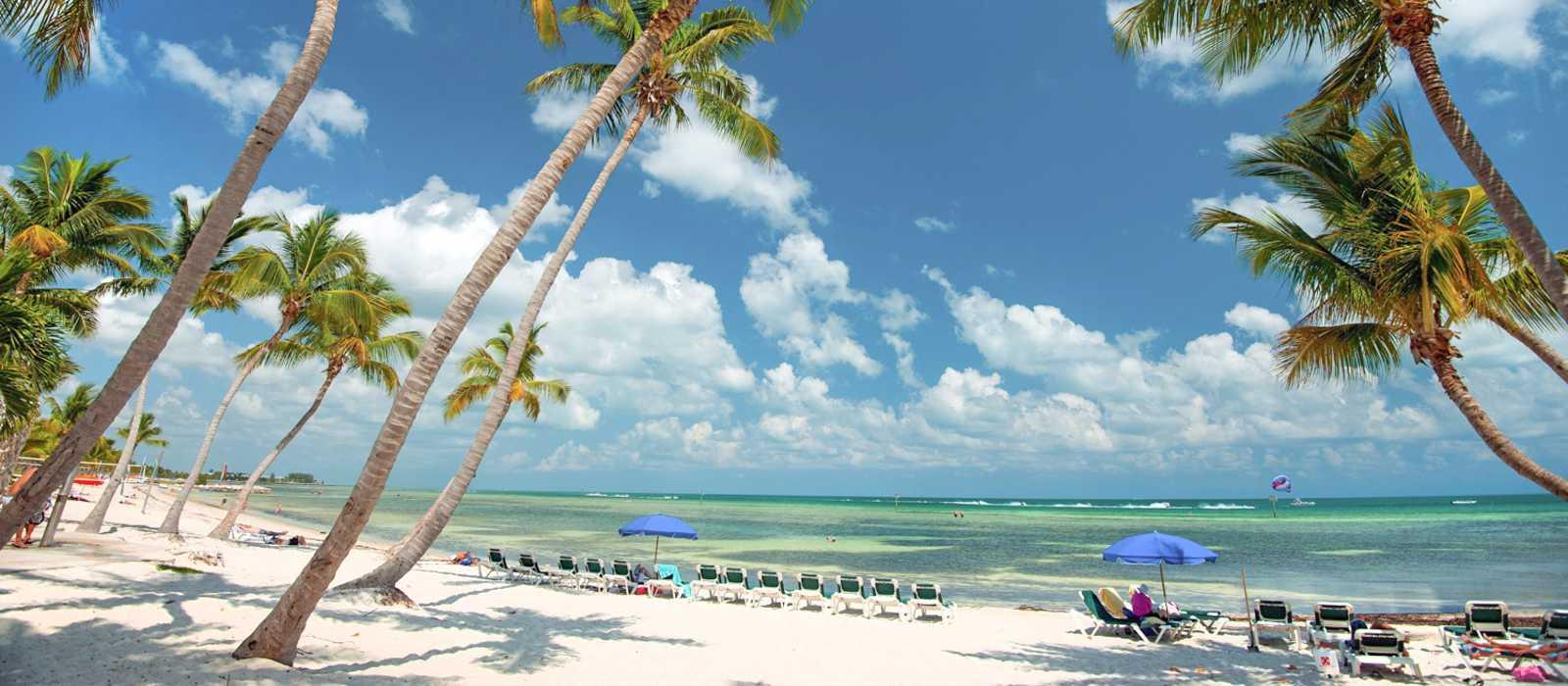 Blick auf den Smathers Beach in Key West, Florida