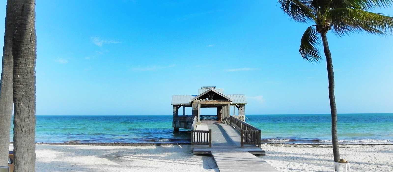 Brücke am Strand auf Key West, Florida