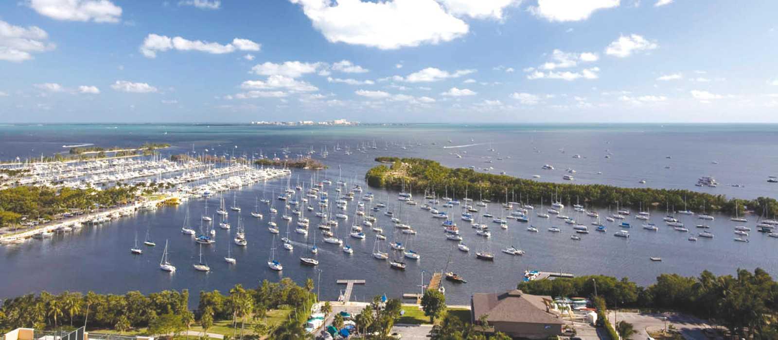 Miami Coconut Grove Marina Aerial