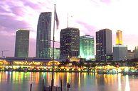 Miami Downtown: Die Skyline nach Sonnenuntergang