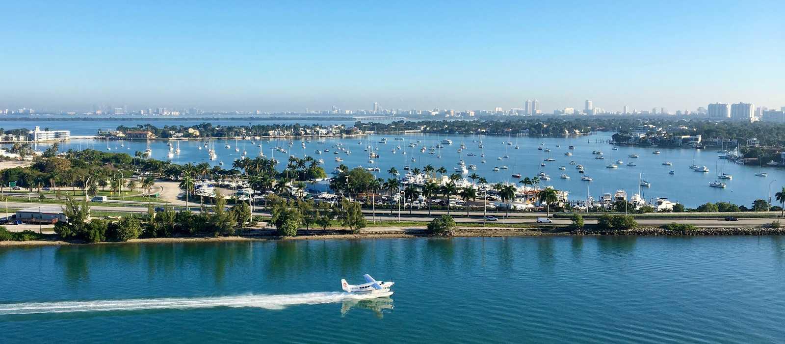Die Hafenausfahrt von Miami