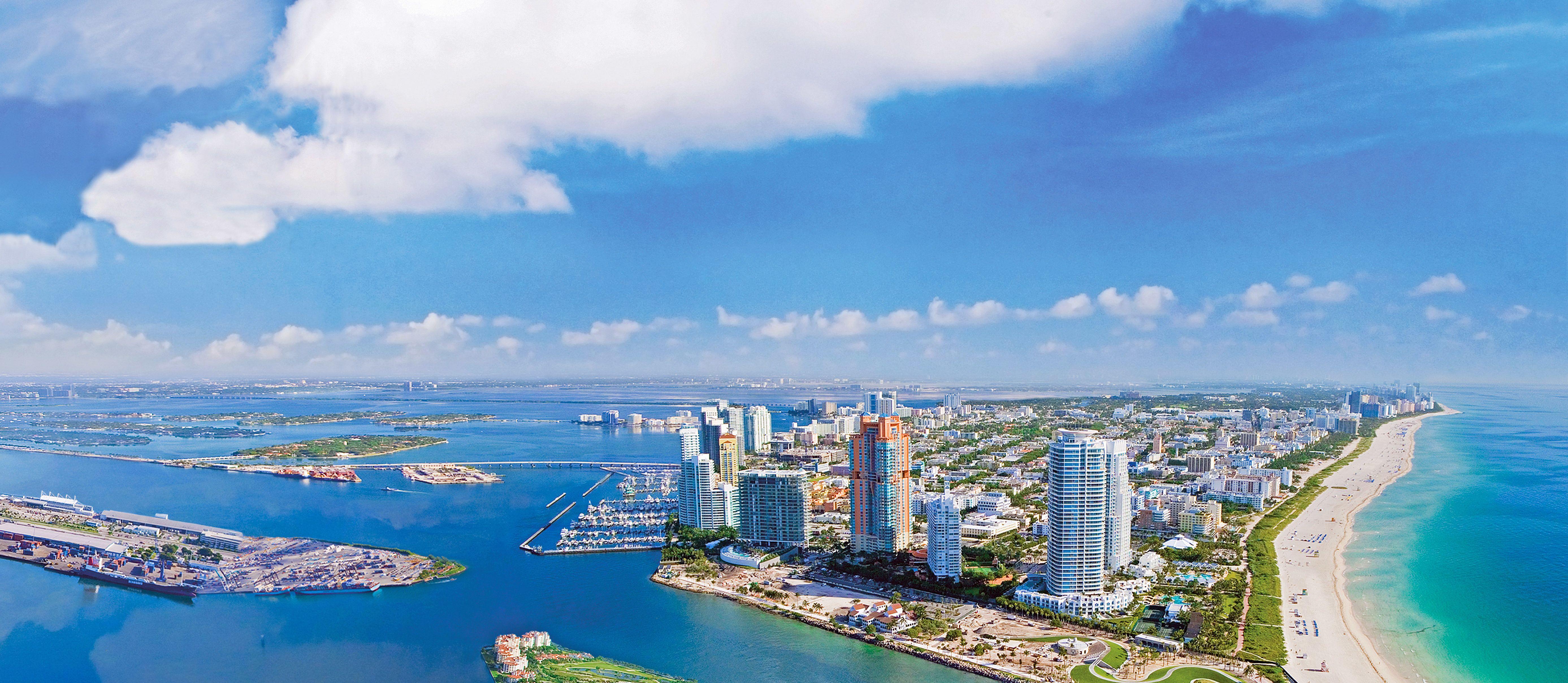 Panoramaansicht von Miami