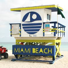Lifeguard Turm am Miami Beach