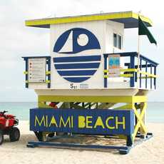 Lifeguard Turm am Miami Beach