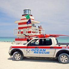 Basis der Rettungsschwimmer in Miami Beach