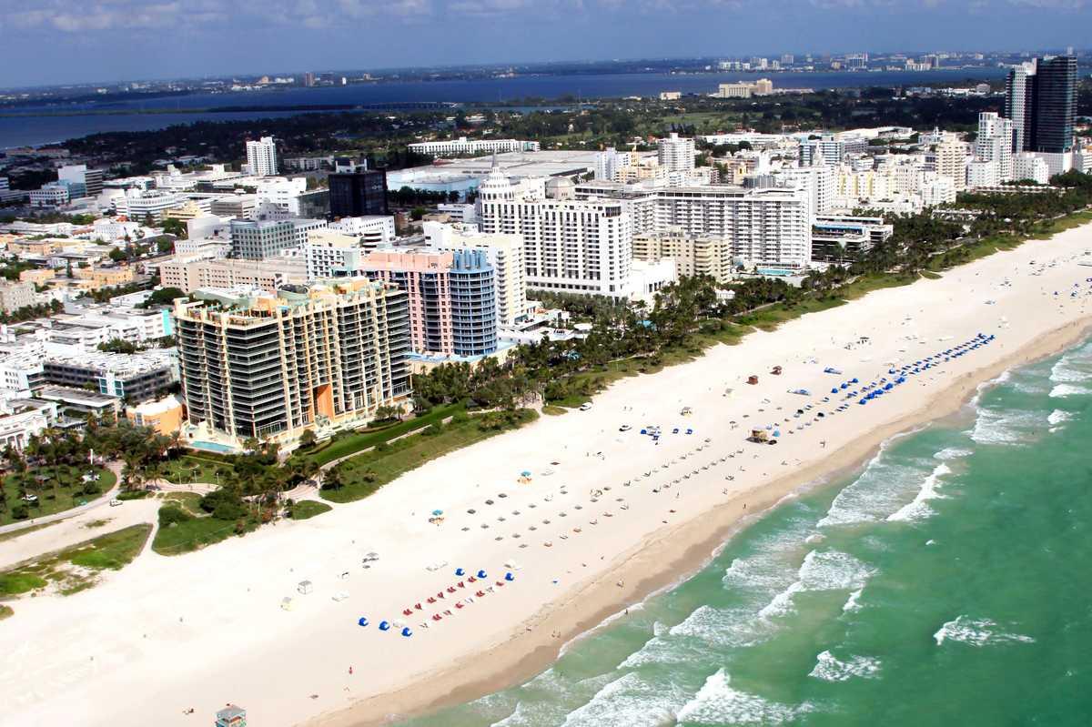 South Beach Aerial Collins Ave Beach