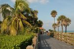 Wunderschöne Strandpromenade in Miami