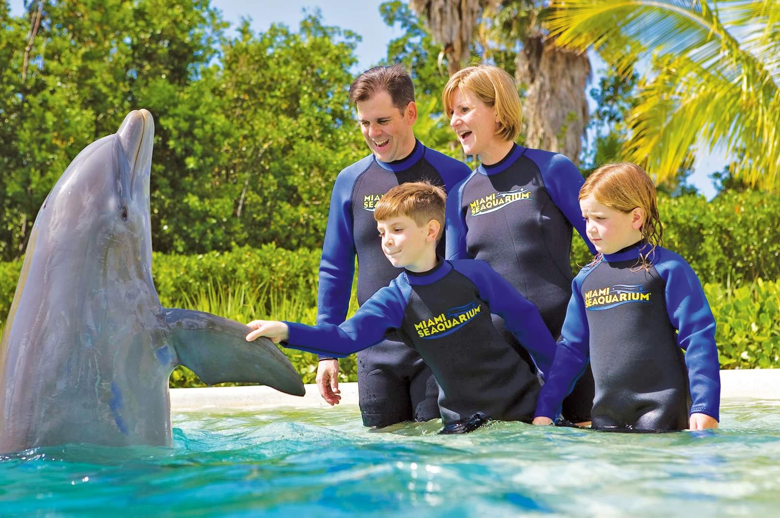 Familie im Miami Seaquarium