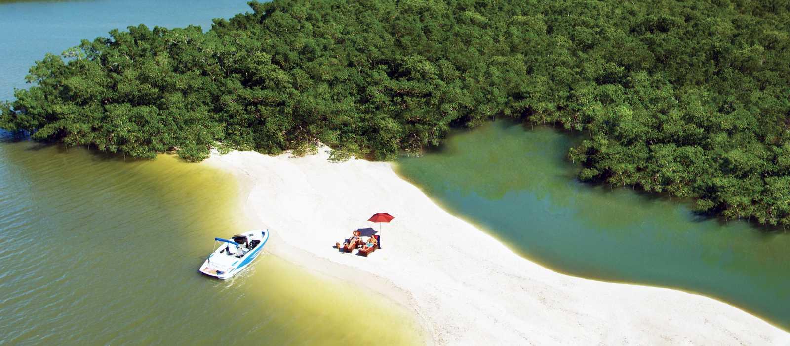 Deserted Beach auf den Ten Thousand Islands, Florida
