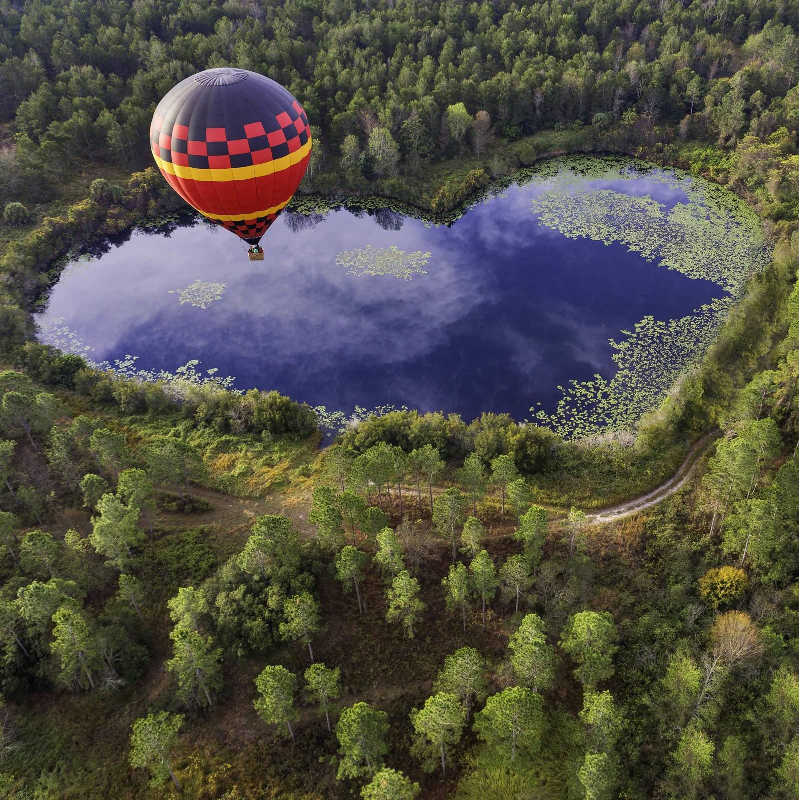 Mit dem Heißluftballon über Davenport in Orlando