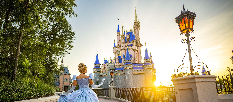 Das traumhafte Schloss im Magic Kingdom der Disney World in Orlando