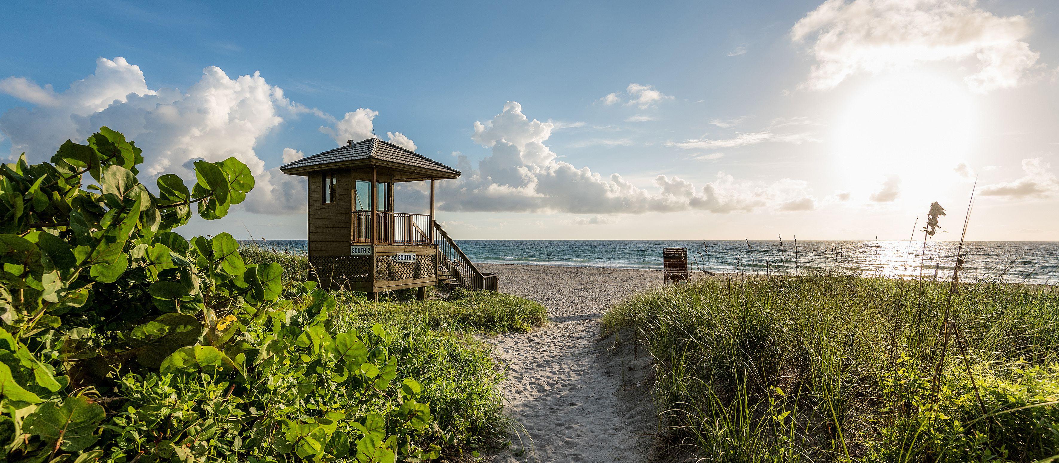 Blick auf den Delray Beach in Florida