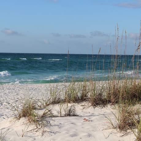 Ein Strandabschnitt von Pensacola