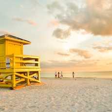 Eine Wasserrettungsstation am Siesta Key Beach