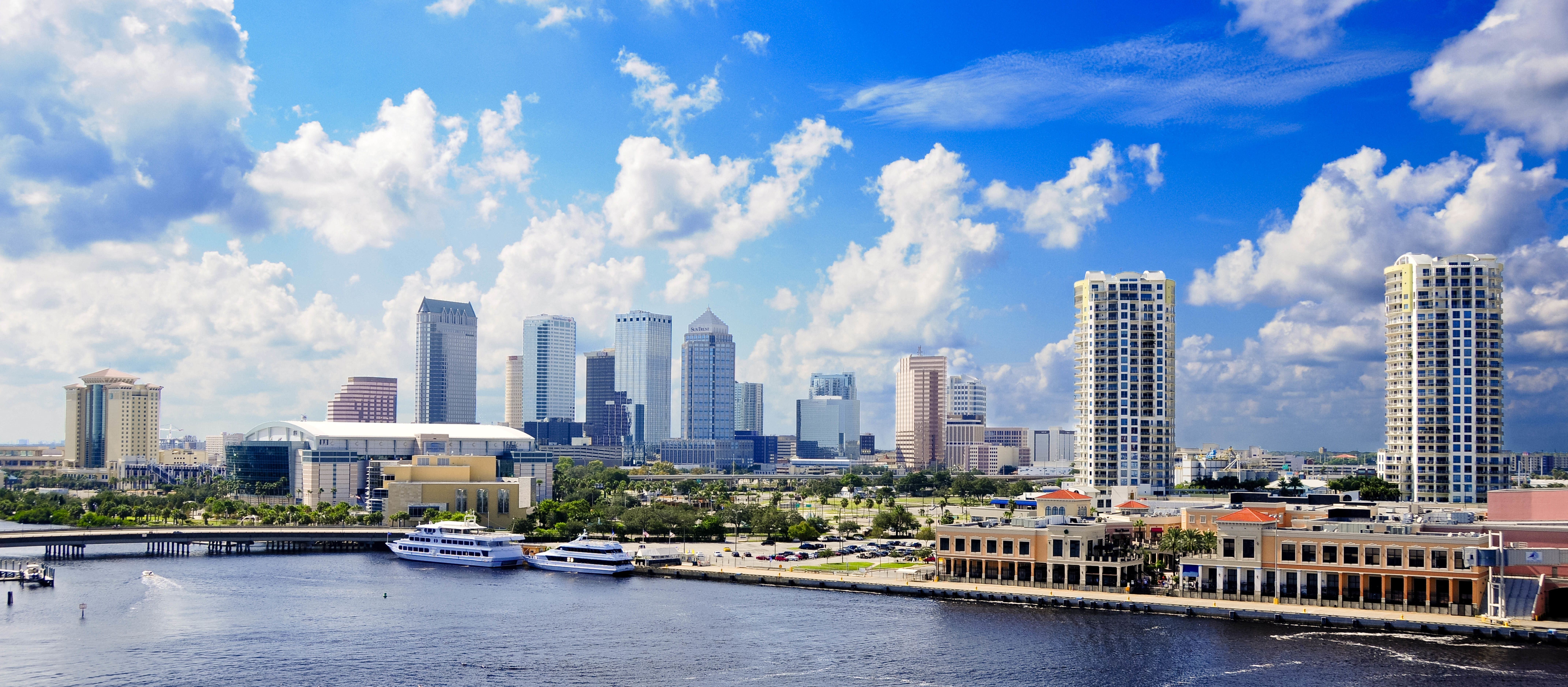 Skyline of Tampa and the Harbour