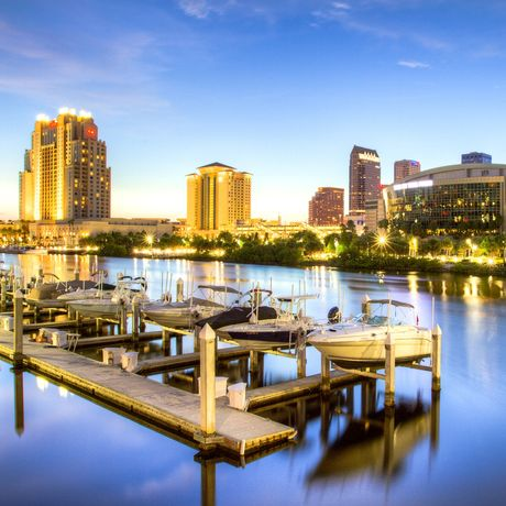 Tampa Bay Times Forum bei Nacht
