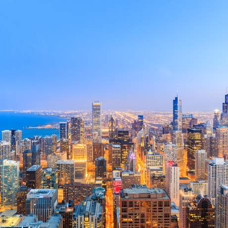 Chicago Skyline, Chicago, Illinois